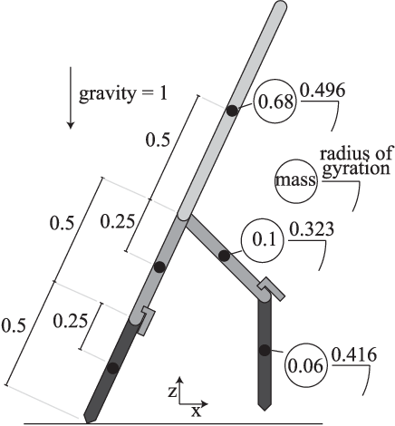 Figure 1 for A Robustness Analysis of Inverse Optimal Control of Bipedal Walking