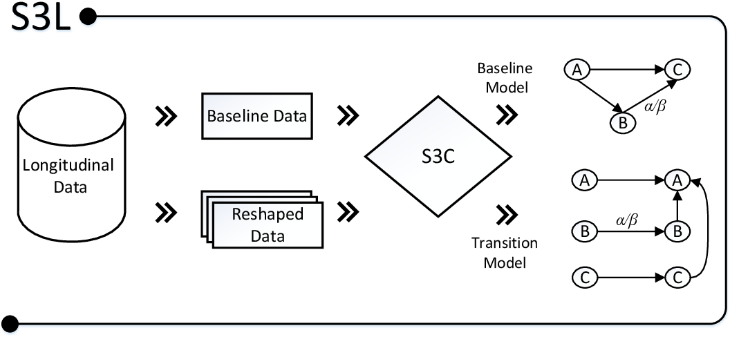 Figure 1 for Causality on Longitudinal Data: Stable Specification Search in Constrained Structural Equation Modeling