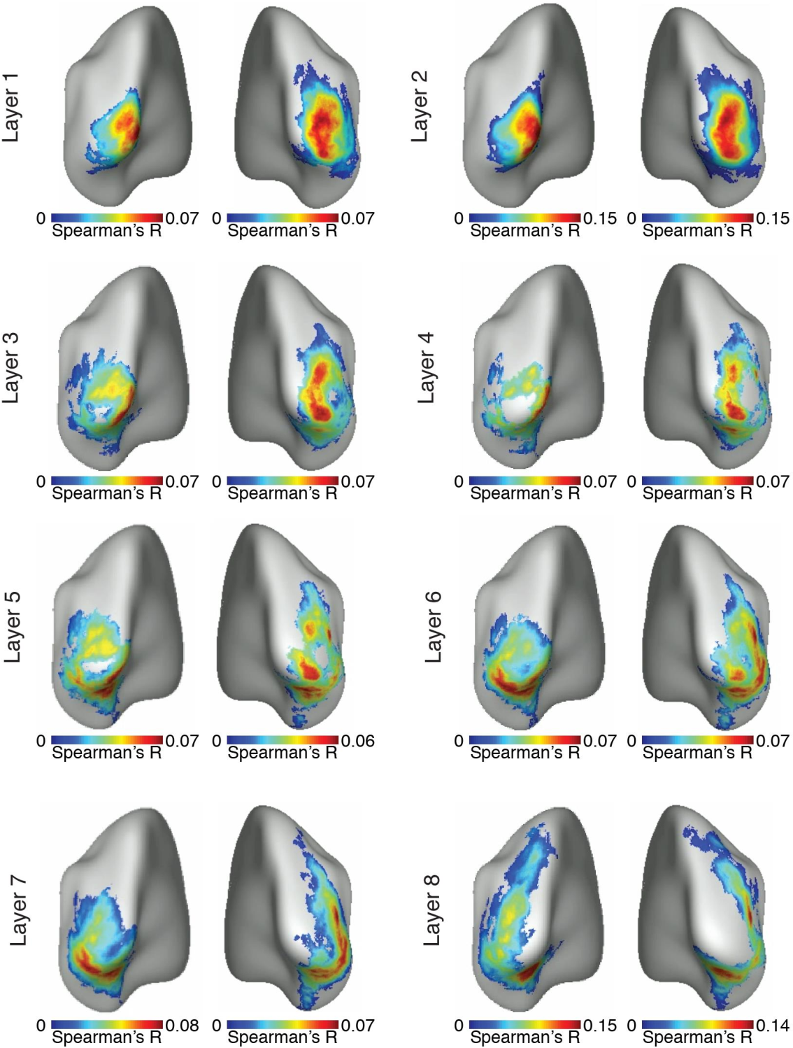 Figure 4 for Deep Neural Networks predict Hierarchical Spatio-temporal Cortical Dynamics of Human Visual Object Recognition