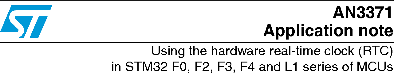 Stm32 Rtc Calibration Example