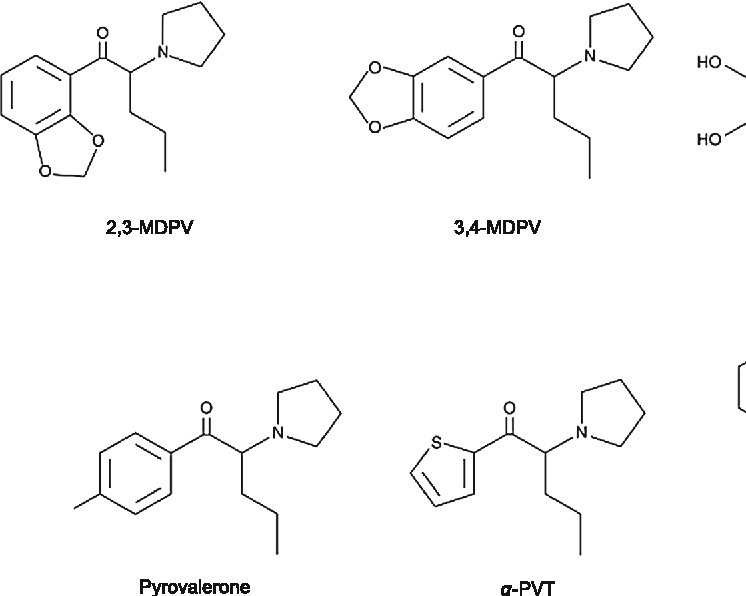 Cytotoxic Activity of Pyrovalerone Derivatives, an Emerging Group of