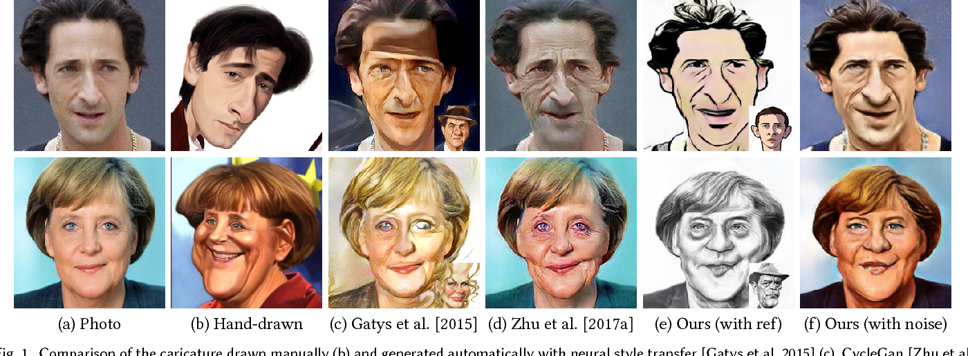 Figure 1 for CariGANs: Unpaired Photo-to-Caricature Translation