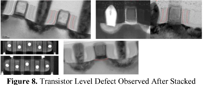 Figure 8. Transistor Level Defect Observed After Stacked Die Assembly