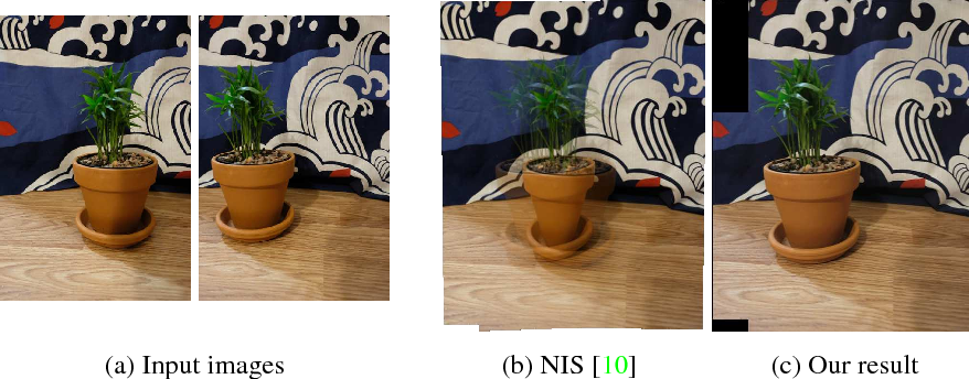 Figure 3 for Robust image stitching with multiple registrations