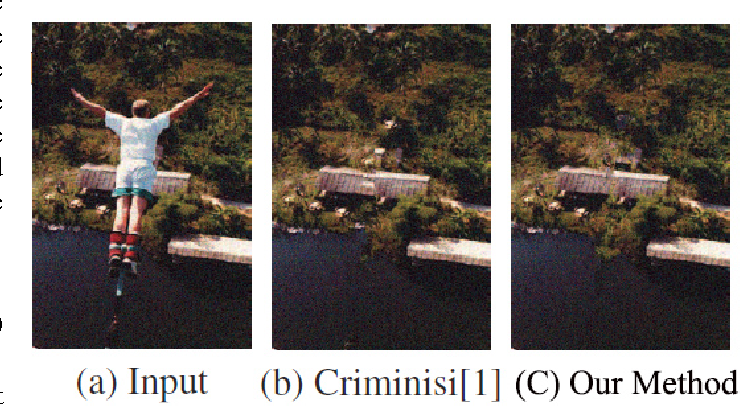 Figure 1 for Patch-based Texture Synthesis for Image Inpainting