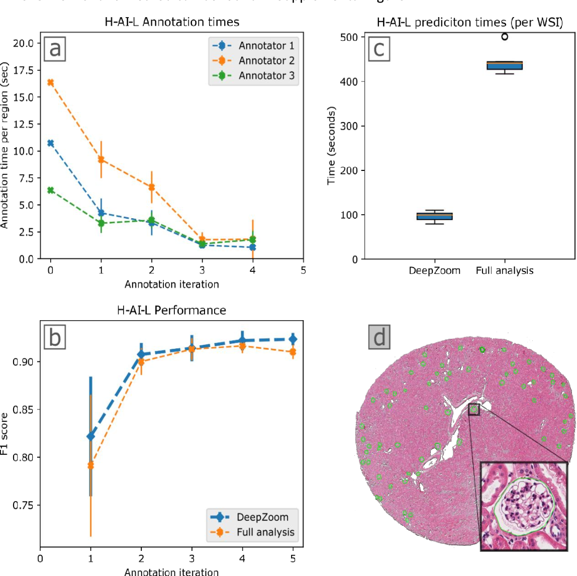 Figure 3 for Iterative annotation to ease neural network training: Specialized machine learning in medical image analysis