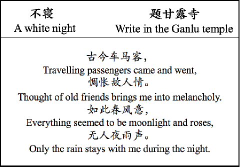 Figure 4 for A Multi-Modal Chinese Poetry Generation Model