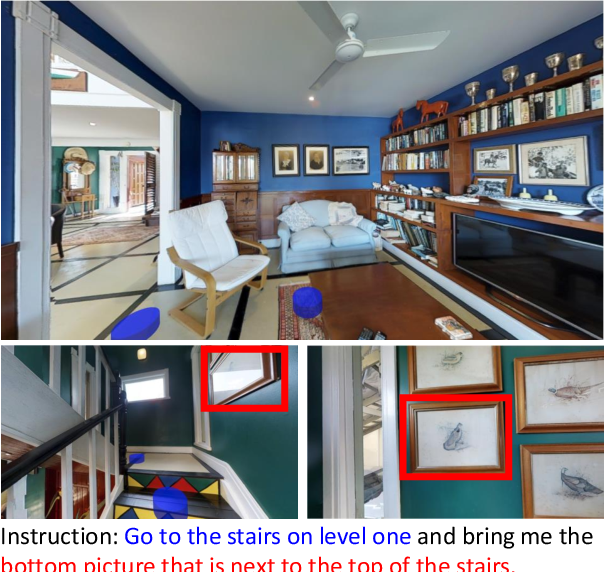 Figure 1 for RERERE: Remote Embodied Referring Expressions in Real indoor Environments