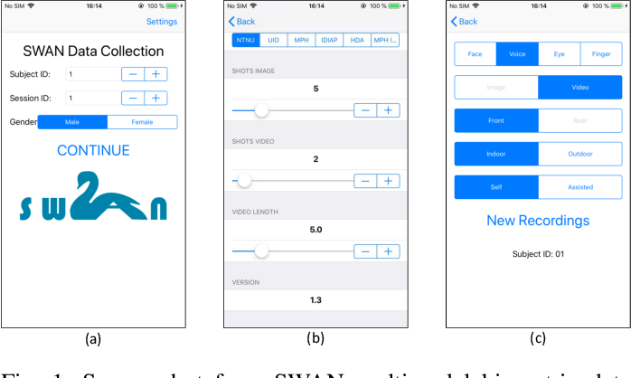 Figure 1 for Smartphone Multi-modal Biometric Authentication: Database and Evaluation