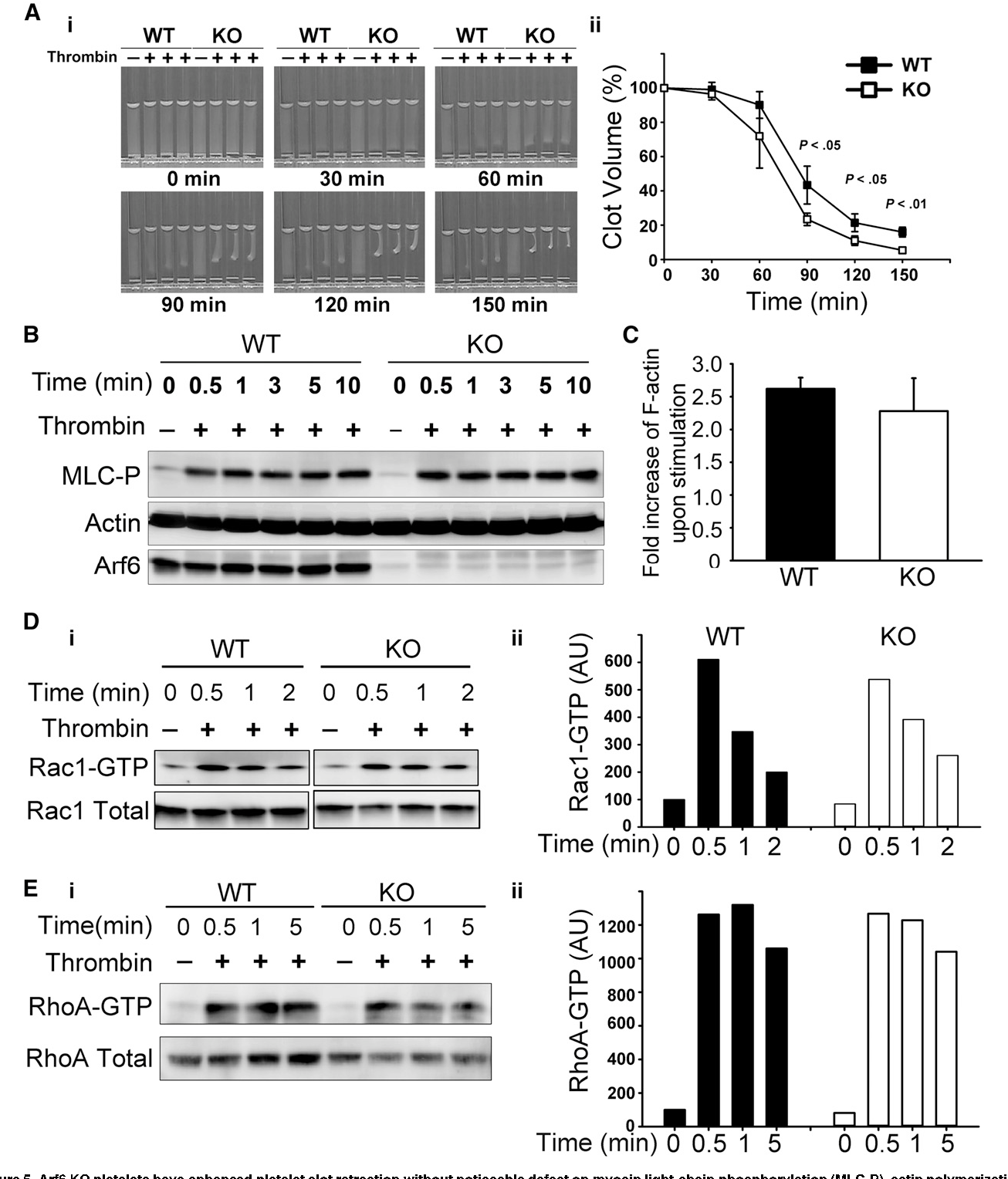 Arf6 controls platelet spreading and clot retraction via integrin ...