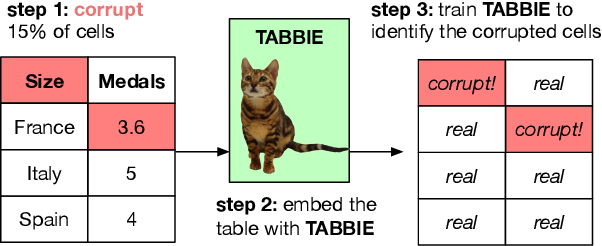 Figure 1 for TABBIE: Pretrained Representations of Tabular Data