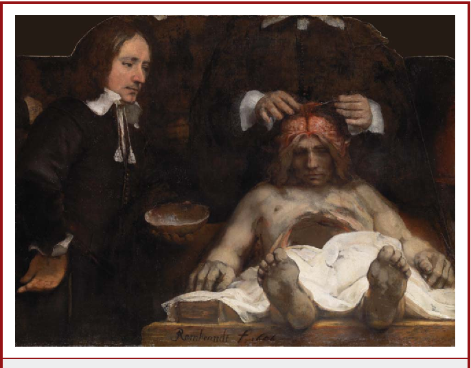Figure 1 from Rembrandt\'s anatomy lesson of Dr. Deijman of 1656 ...