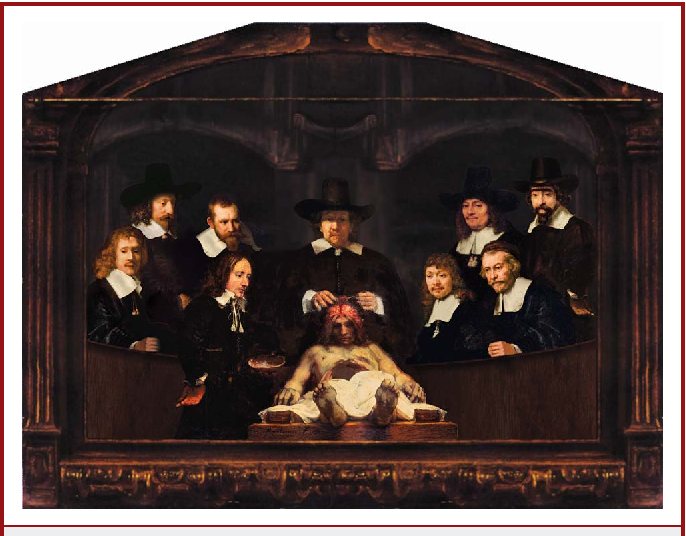 Figure 3 from Rembrandt\'s anatomy lesson of Dr. Deijman of 1656 ...