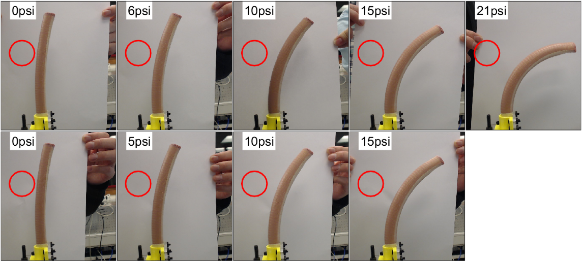 Figure 4 for Modal-based Kinematics and Contact Detection of Soft Robots