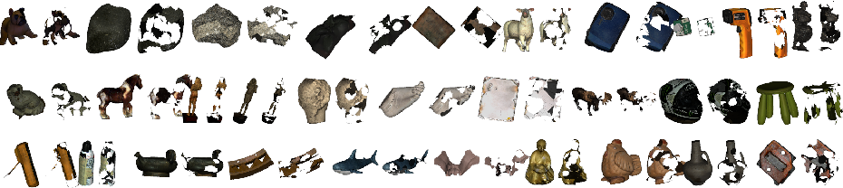 Figure 3 for SHARP 2020: The 1st Shape Recovery from Partial Textured 3D Scans Challenge Results