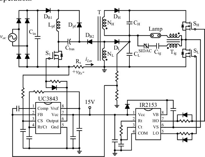 Two-Stage High-Power-Factor Electronic Ballast for Metal
