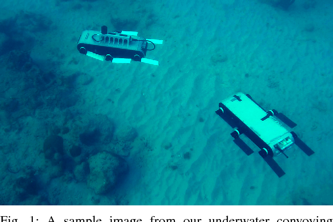 Figure 1 for Underwater Multi-Robot Convoying using Visual Tracking by Detection