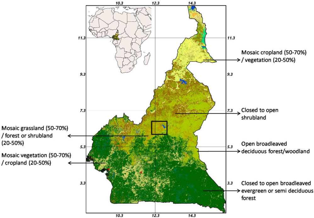 Biomass assessment in the cameroon savanna using alos palsar data figure 1 ccuart Image collections