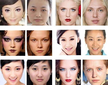 Figure 1 for Anti-Makeup: Learning A Bi-Level Adversarial Network for Makeup-Invariant Face Verification