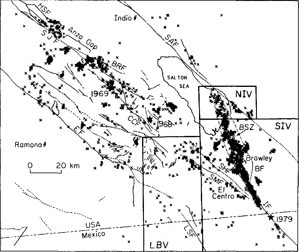 Figure 2 From Depth Of Seismicity In The Imperial Valley Region