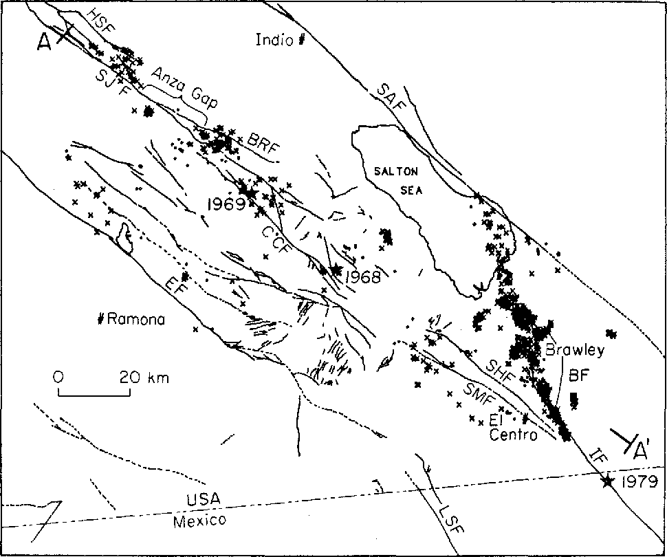 Figure 3 From Depth Of Seismicity In The Imperial Valley Region
