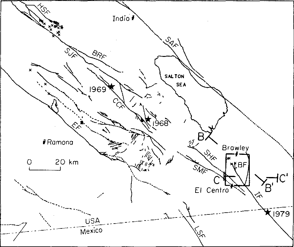 Figure 5 From Depth Of Seismicity In The Imperial Valley Region