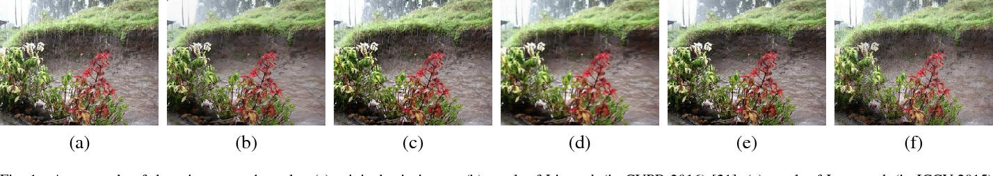 Figure 1 for Removing rain streaks by a linear model