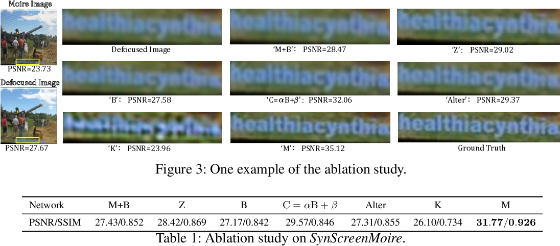 Figure 2 for Self-Adaptively Learning to Demoire from Focused and Defocused Image Pairs