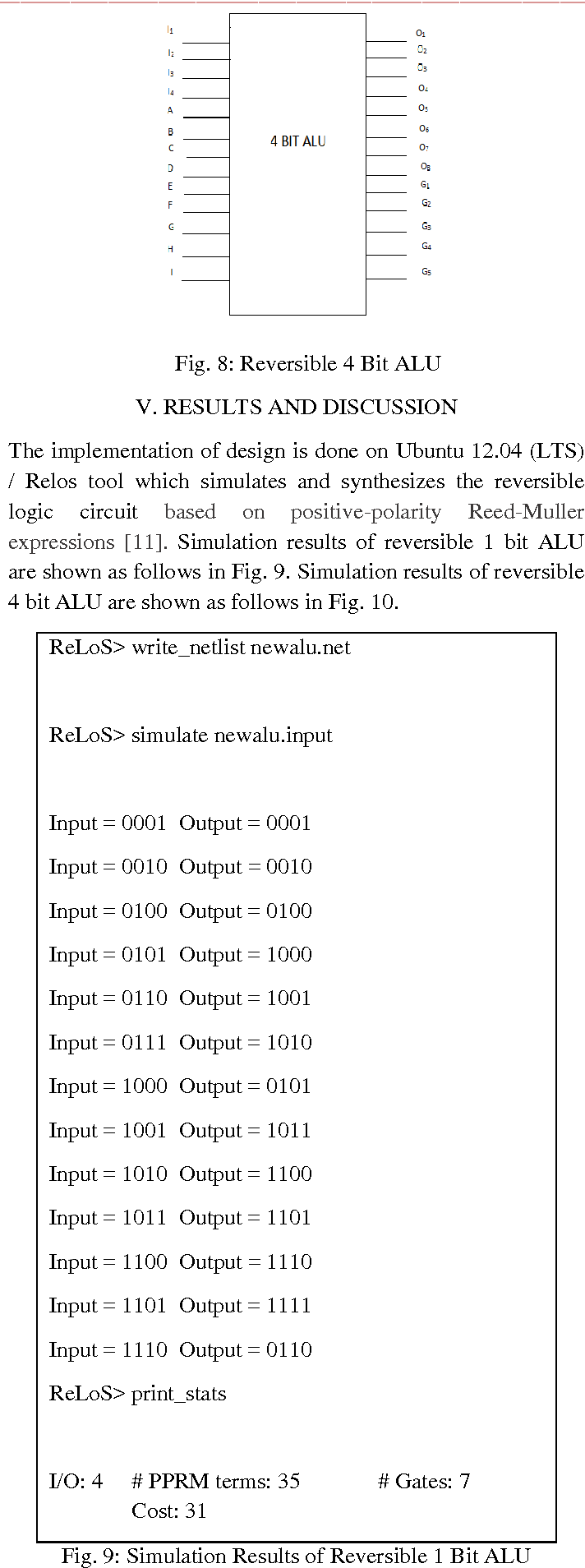 Design Of 4 Bit Alu Using Reversible Gates Semantic Scholar 1 Logic Diagram