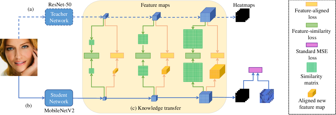 Figure 1 for MobileFAN: Transferring Deep Hidden Representation for Face Alignment
