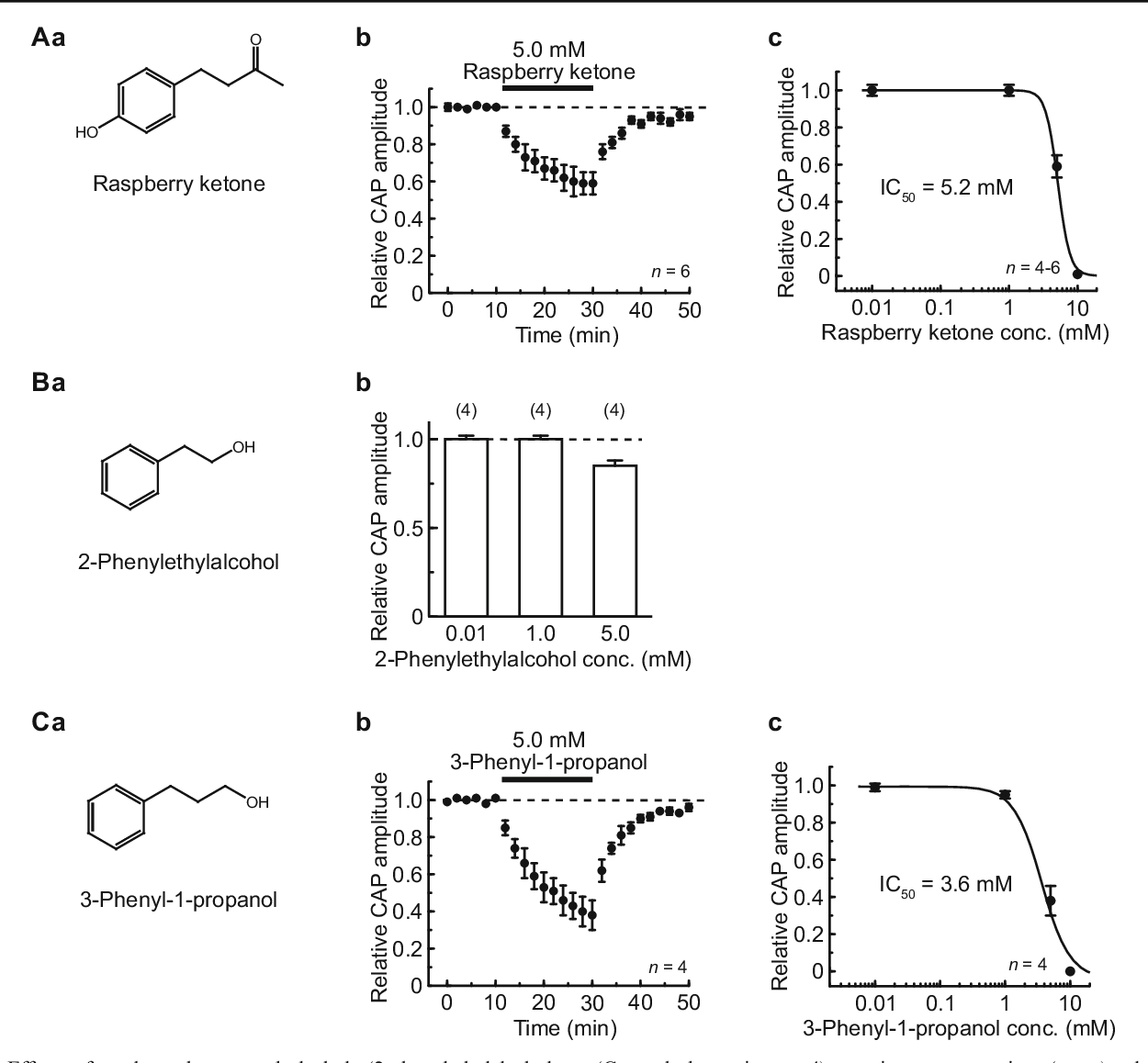 Inhibition by general anesthetic propofol of compound action