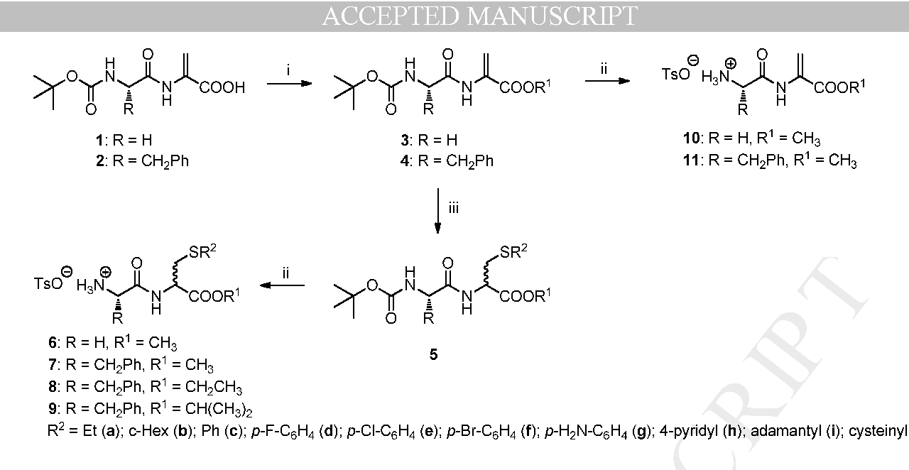 d11e4346d66b Figure 2 from Addition of thiols to the double bond of dipeptide C ...