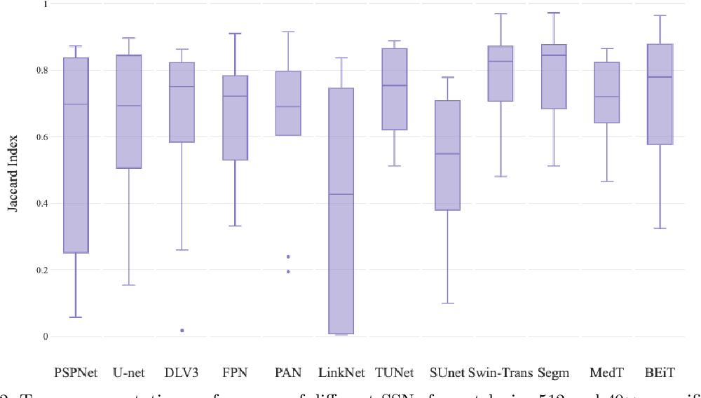 Figure 4 for Evaluating Transformer based Semantic Segmentation Networks for Pathological Image Segmentation