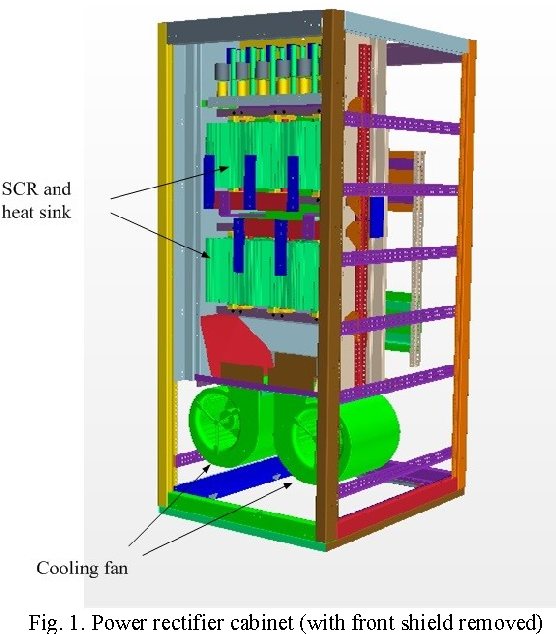 Simulation of heat transfer and air cooling in a power
