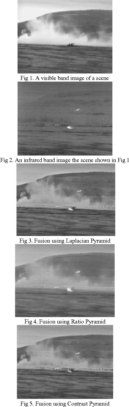 Fig 1. A visible band image of a scene