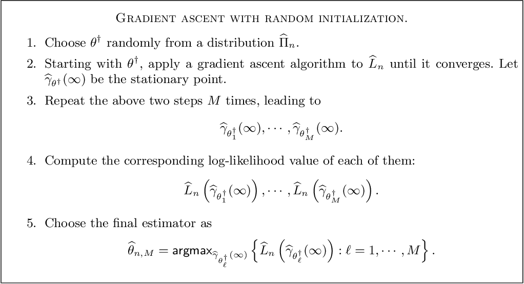 Figure 2 for Statistical Inference with Local Optima