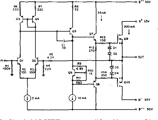 mosfet power amplifier design