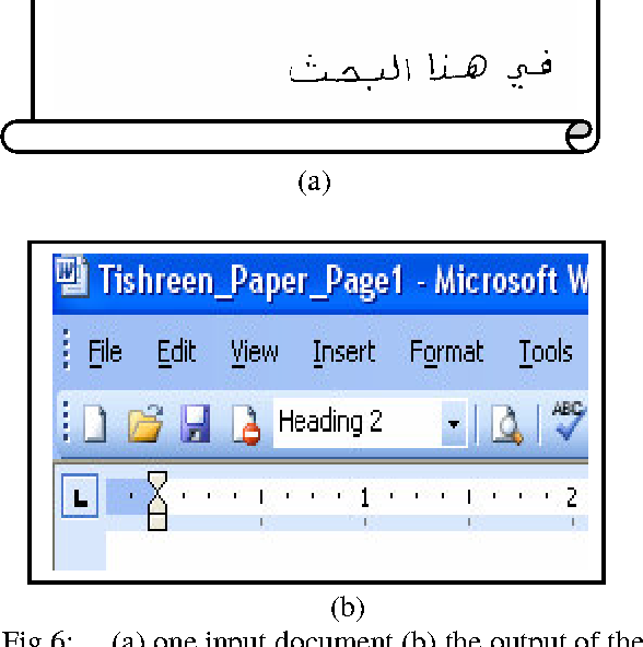 PDF] Automatic Arabic Hand Written Text Recognition System