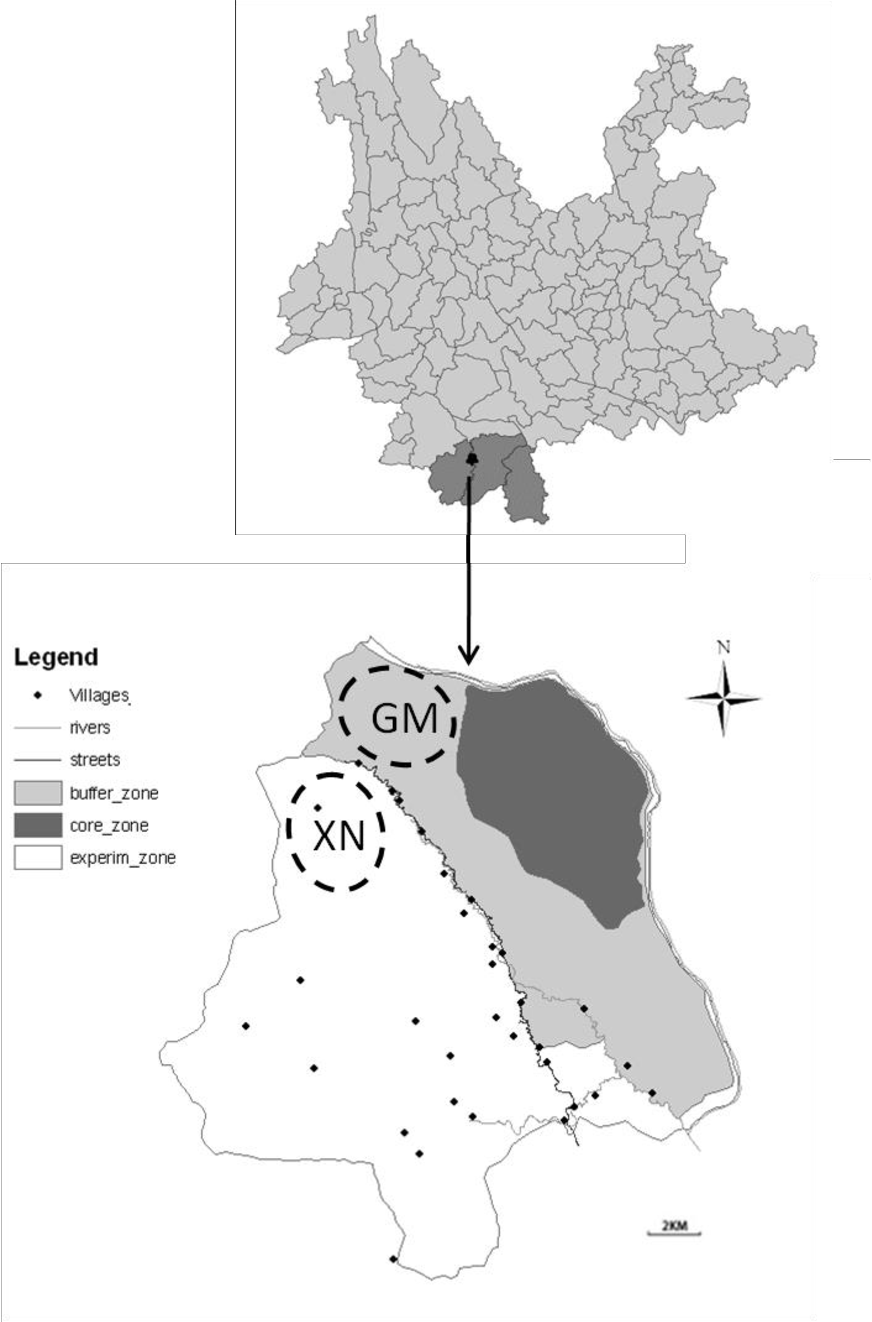 Figure 1 From Wild Ungulate Distribution In The Naban River