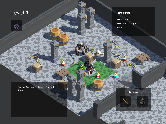 Figure 1 for DeepCrawl: Deep Reinforcement Learning for Turn-based Strategy Games