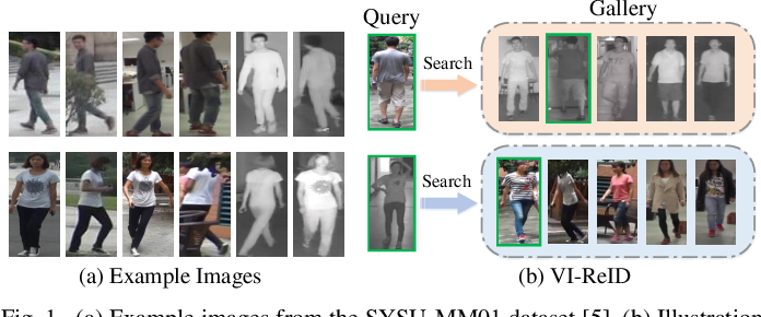 Figure 1 for SFANet: A Spectrum-aware Feature Augmentation Network for Visible-Infrared Person Re-Identification