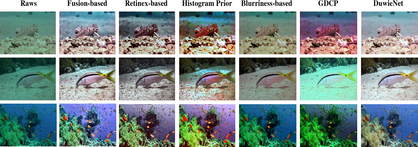 Figure 4 for An Underwater Image Enhancement Benchmark Dataset and Beyond