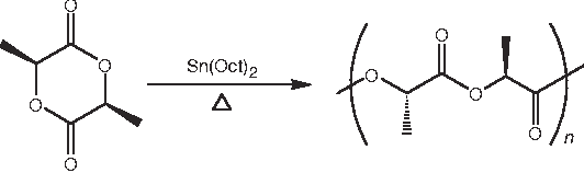 Figure 1   Ring-opening polymerization of L-lactide.