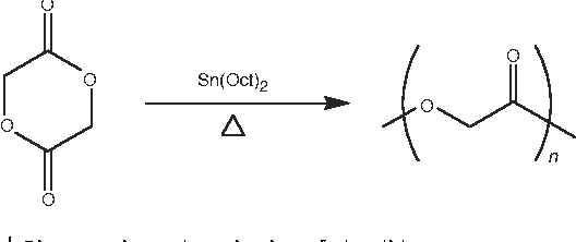 Figure 2   Ring-opening polymerization of glycolide.