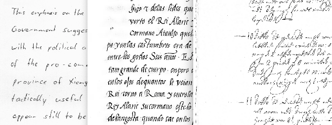 Figure 1 for Whole page recognition of historical handwriting