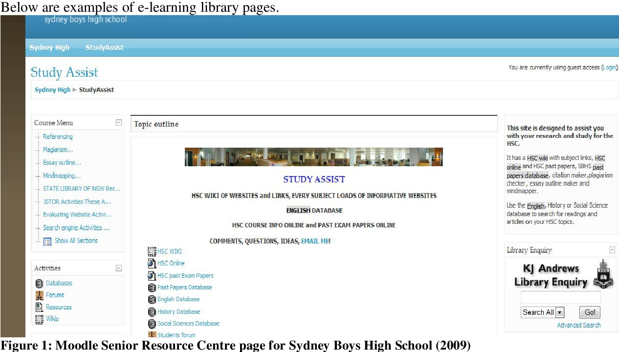 Figure 2 from The School Library and E-Learning Platforms