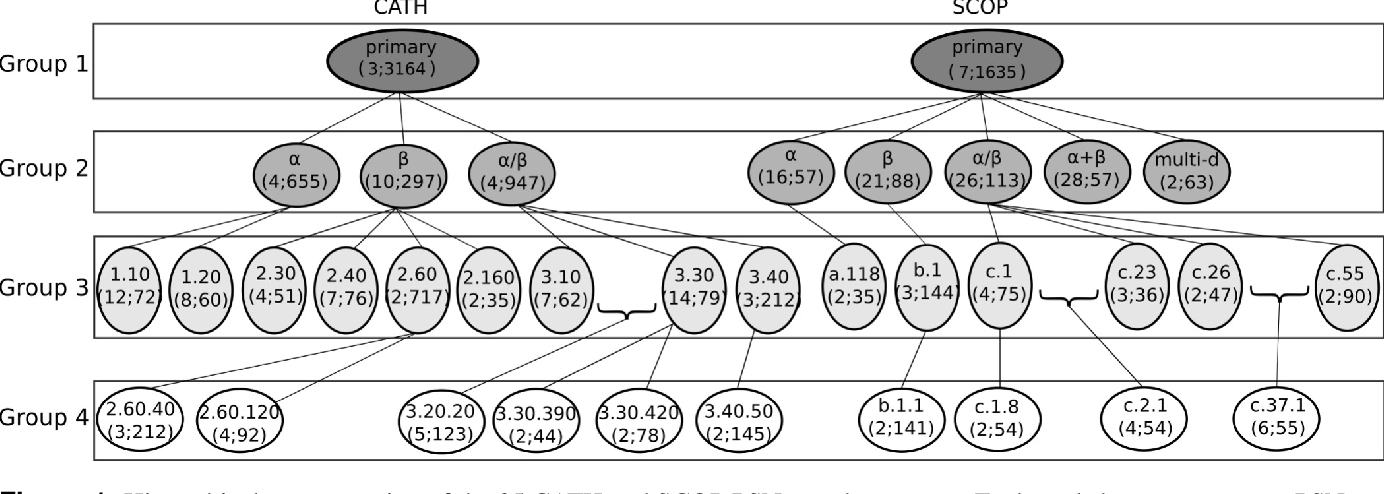 Figure 1 for Network-based protein structural classification