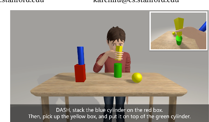 Figure 1 for DASH: Modularized Human Manipulation Simulation with Vision and Language for Embodied AI