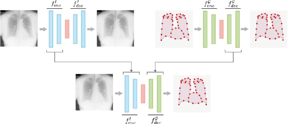 Figure 1 for Hybrid graph convolutional neural networks for landmark-based anatomical segmentation