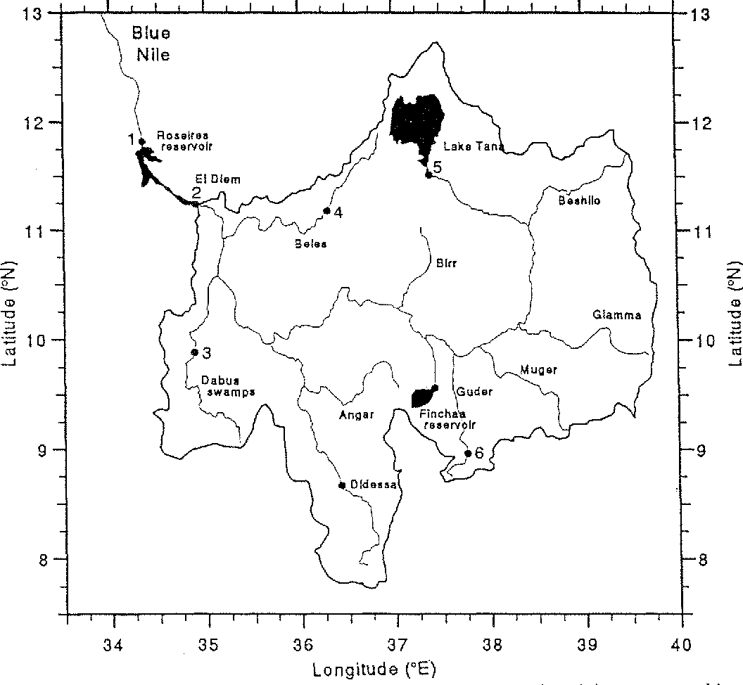 a water balance model of the upper blue nile in ethiopia semantic White Nile River Map a water balance model of the upper blue nile in ethiopia semantic scholar